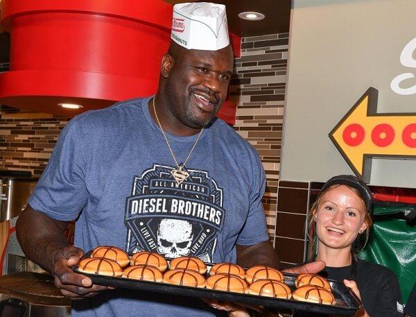 Shaquille O'Neal Visits Krispy Kreme Toronto