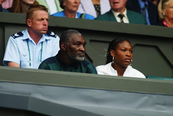 Richard Williams and daughter Serena