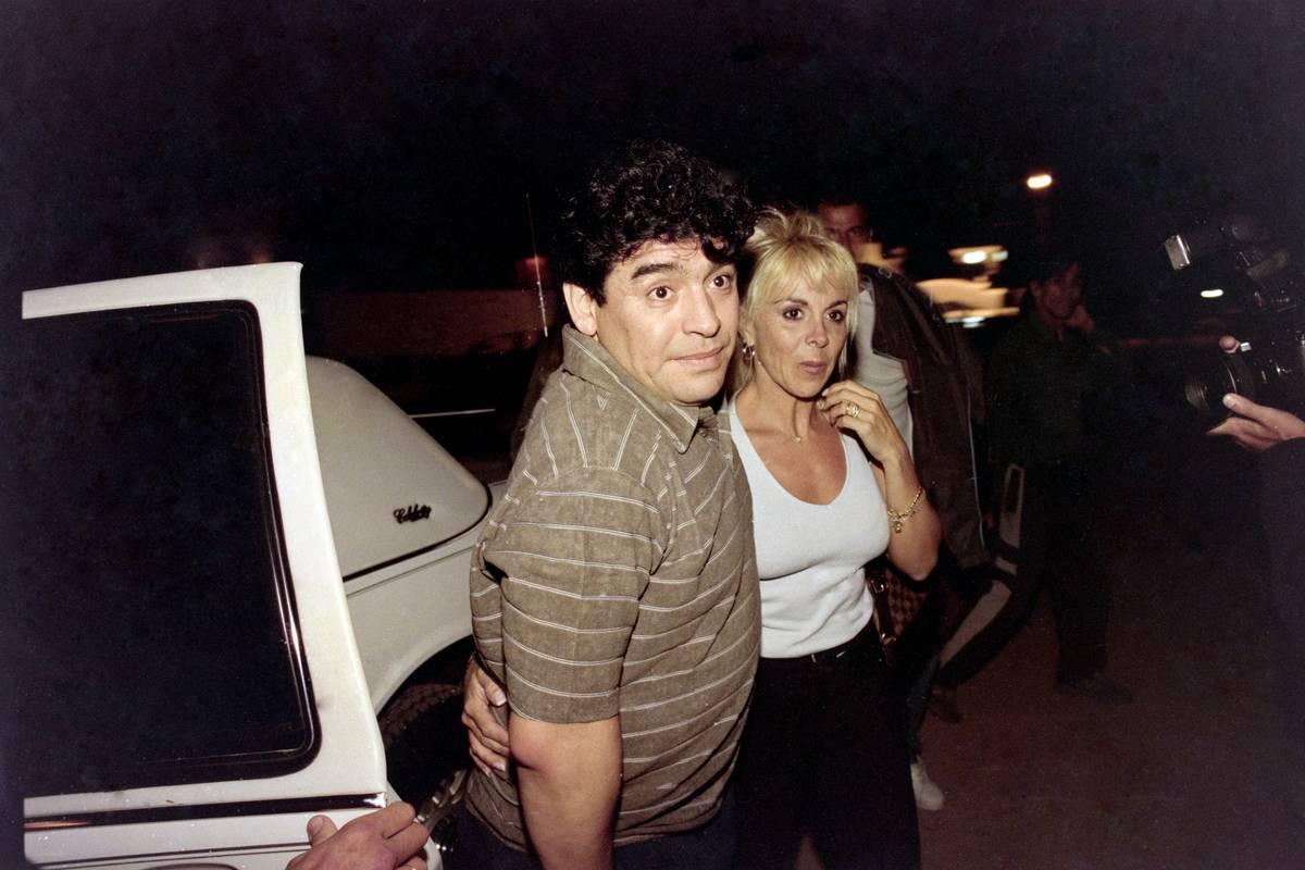 Diego Maradona and Claudia Villafane in Punta del Este