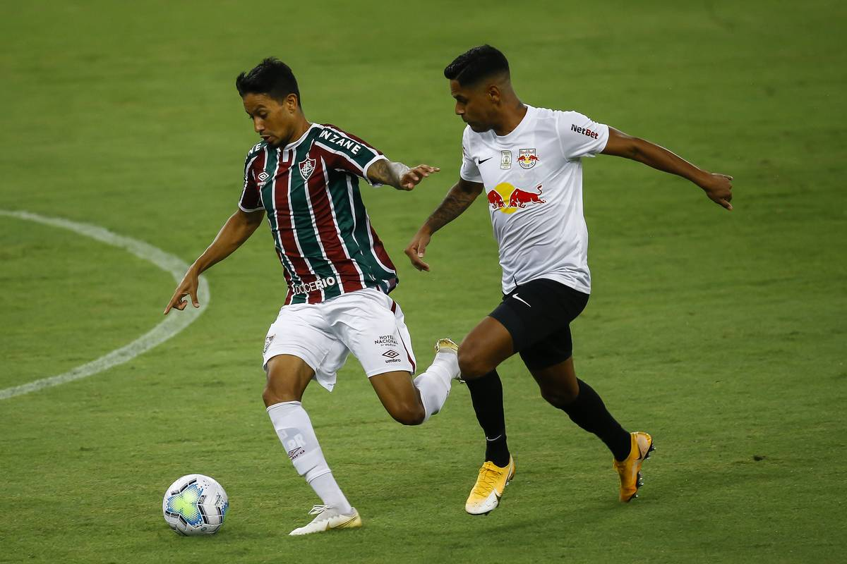 2020 Brasileirao Series A: Fluminense v Red Bull Bragantino Play Behind Closed Doors Amidst the Coronavirus (COVID - 19) Pandemic