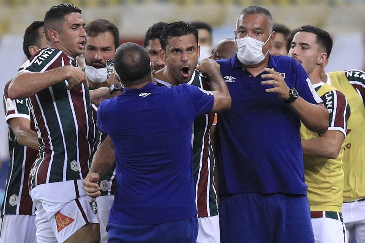2020 Brasileirao Series A: Fluminense v Sao Paulo Play Behind Closed Doors Amidst the Coronavirus (COVID-19) Pandemic