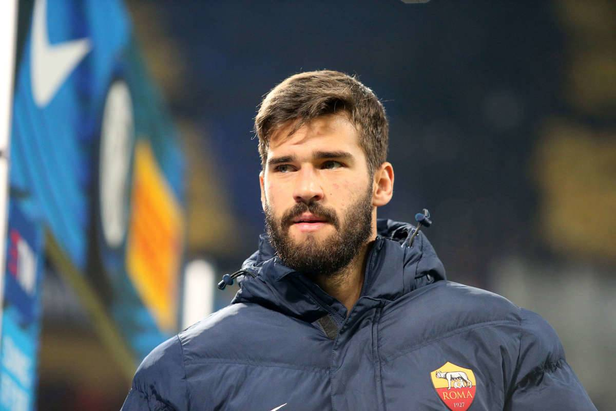 Alisson Ramses Becker of AS Roma looks on before the...
