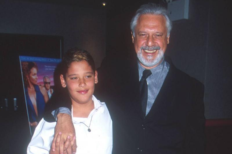 Actor Antonio Fagundes with his son attend the New York premiere of
