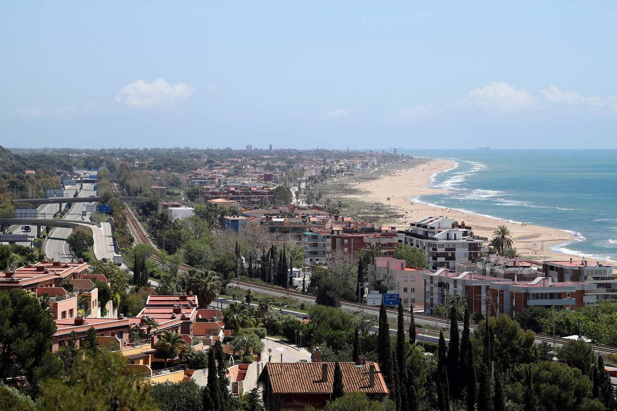 Castelldefels beach, near Barcelona
