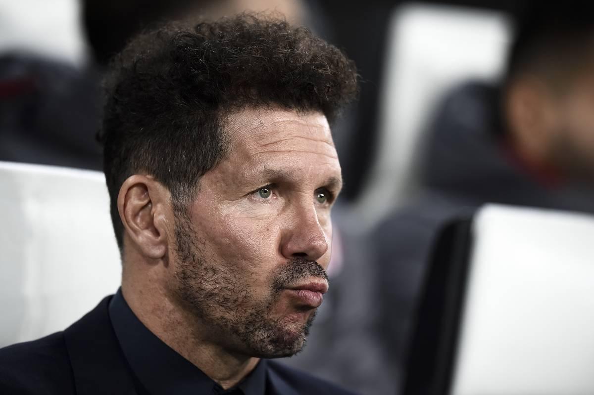 Diego Simeone, head coach of Club Atletico de Madrid, looks...