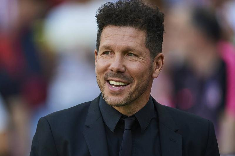 Diego Simeone, Manager of Club Atletico de Madrid looks on during the La Liga match between Club Atletico de Madrid and Sevilla FC at Wanda Metropolitano on May 12, 2019 in Madrid, Spain