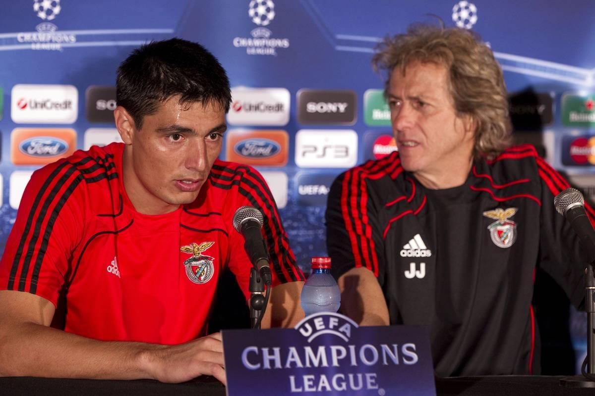 Portuguese Benfica football head coach J