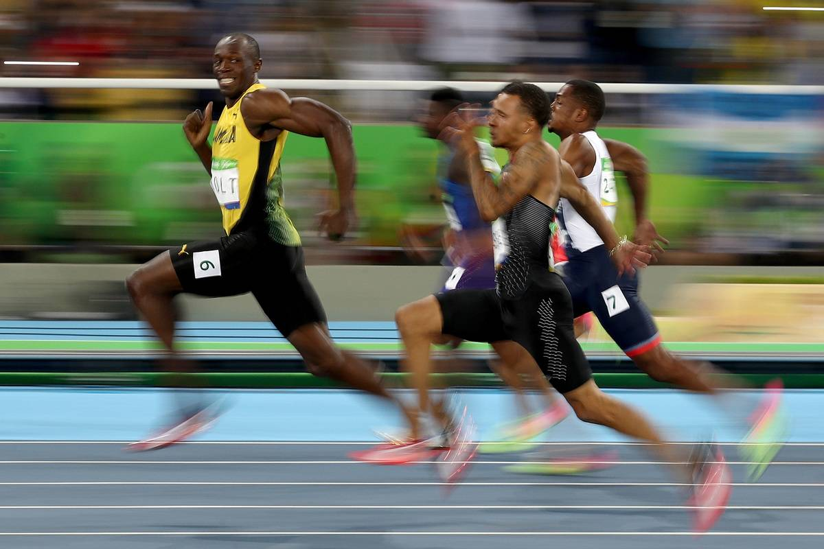 Usain Bolt of Jamaica competes in the Men's 100 meter semifinal on Day 9 of the Rio 2016 Olympic Games at the Olympic Stadium on August 14, 2016 in Rio de Janeiro, Brazil
