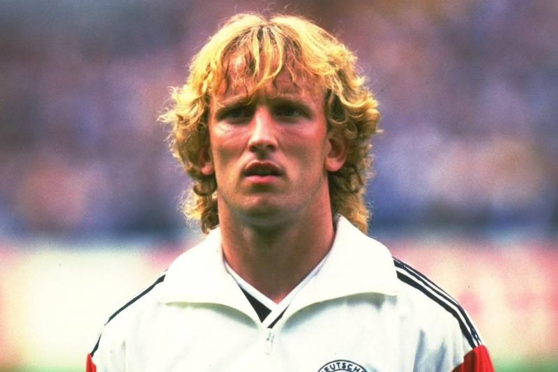 Portrait of Andreas Brehme of West Germany before a match 1986