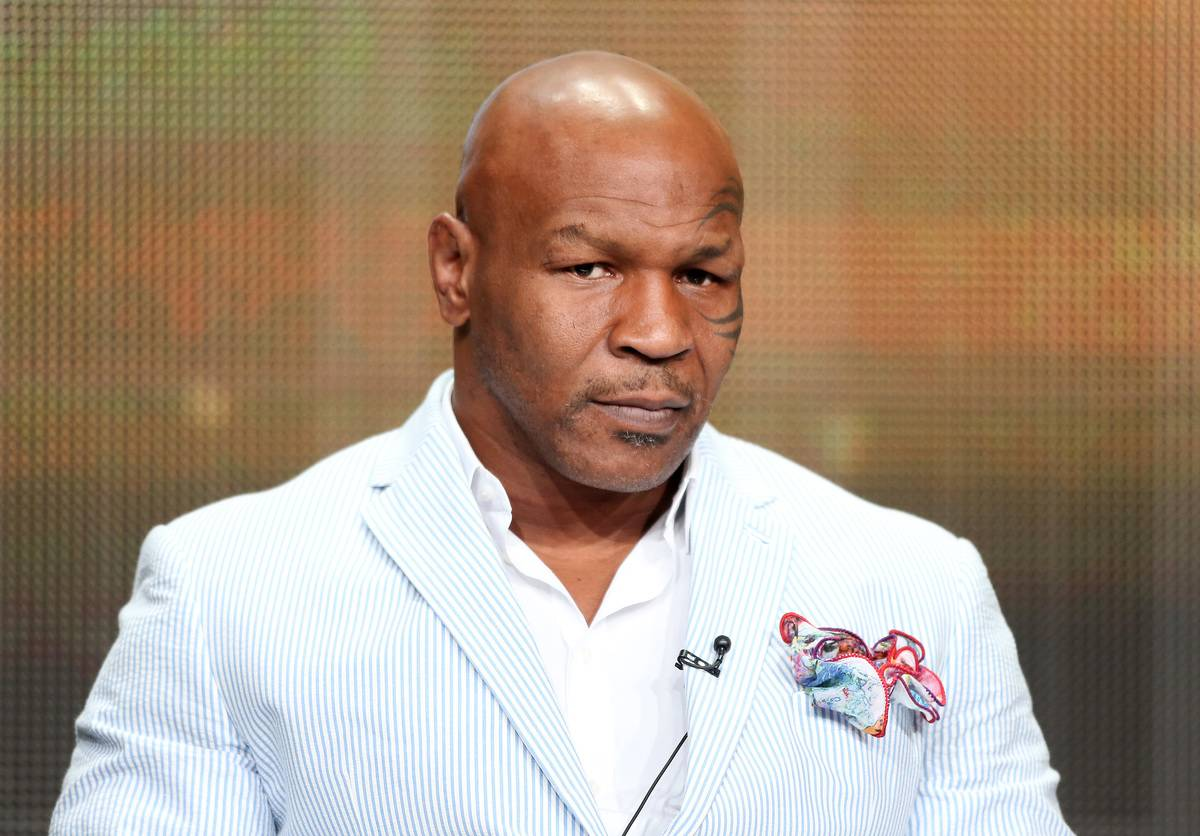 Mike Tyson speaks onstage during the