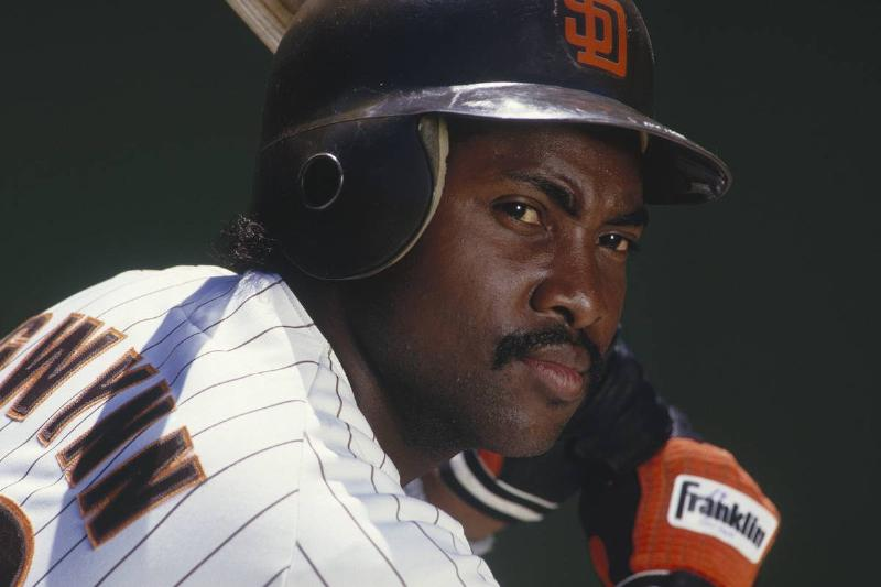Tony Gwynn #19 of the San Diego Padres poses for the camera