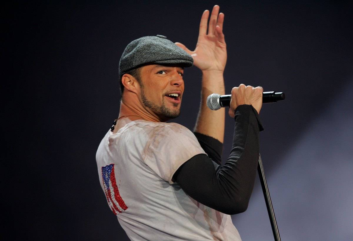 Singer Ricky Martin performs during the Closing Ceremony of the Turin 2006 Winter Olympic Games on February 26, 2006 at the Olympic Stadium in Turin, Italy