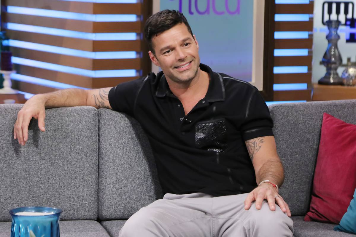Ricky Martin is seen on the set of