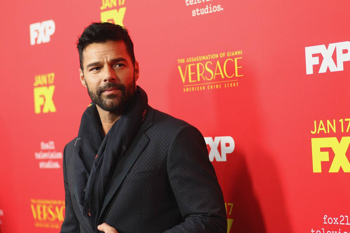 Ricky Martin attends the Premiere Of FX's