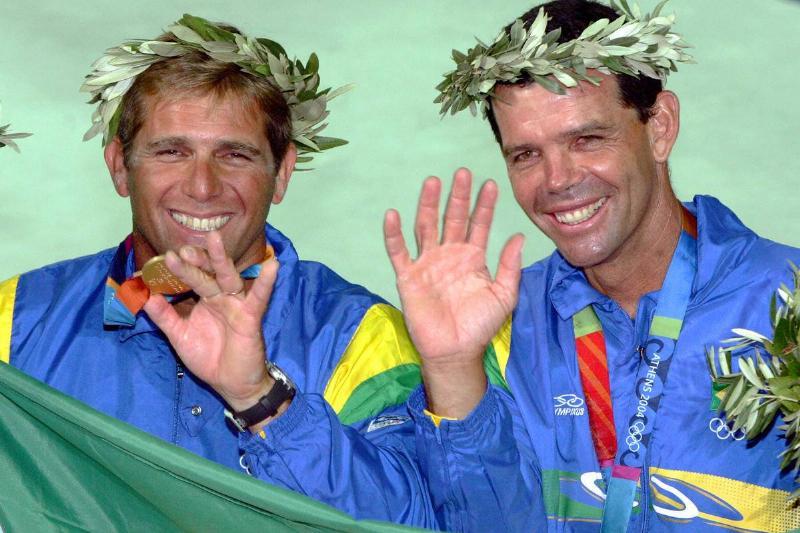 Torben Grael and Marcelo Ferreira of Bra