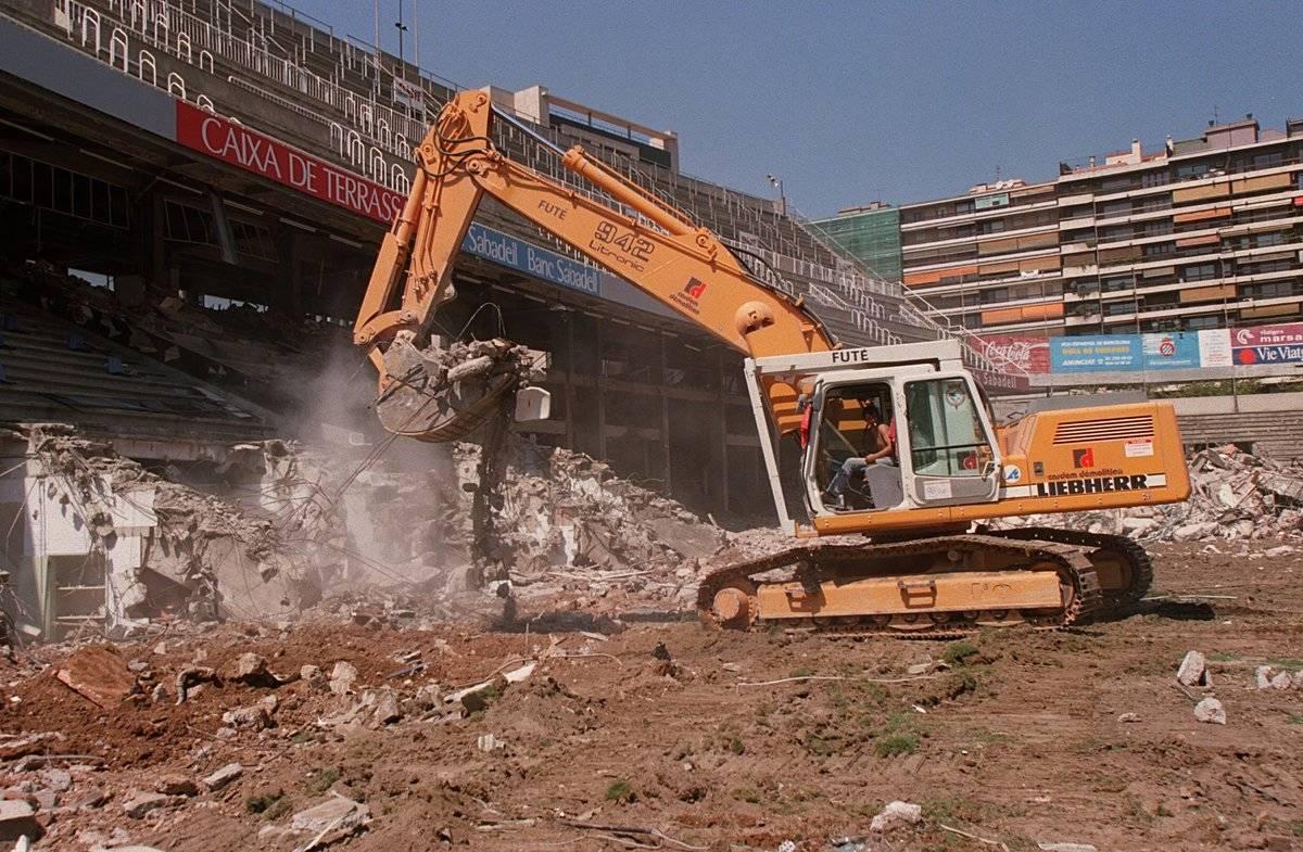 European Club Soccer - Demolition of Espanyol stadium Sarria Stadio