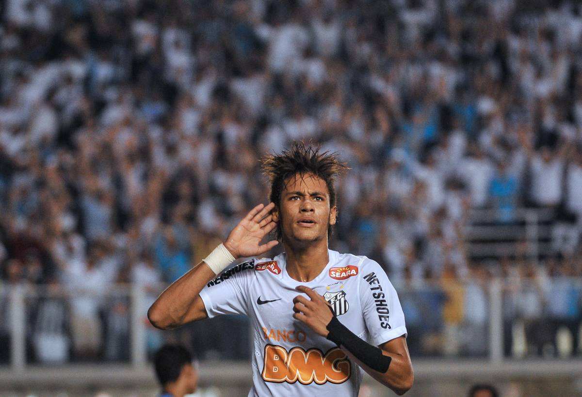 Footballer Neymar, of Brazilian team San