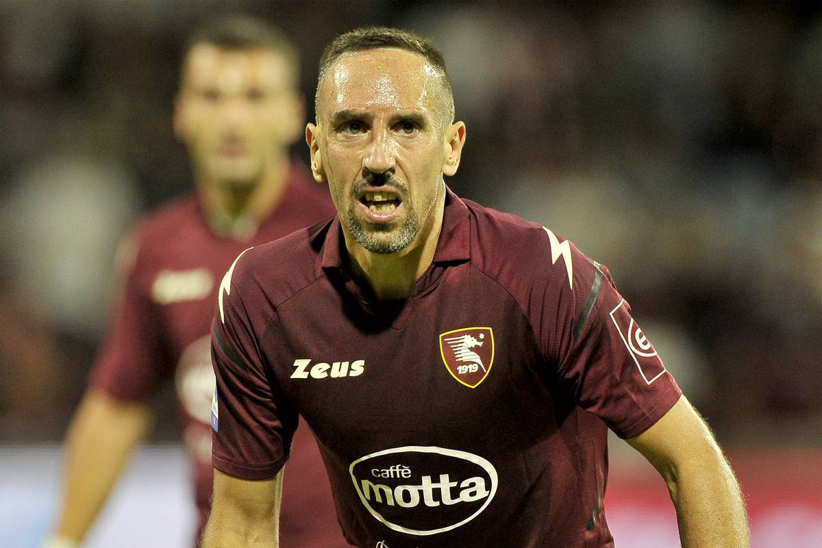 Franck Ribery player of Salernitana, during the match of the Italian Serie A league between Salernitana vs Verona, final result 2-2, match played at the Arechi stadium in Salerno