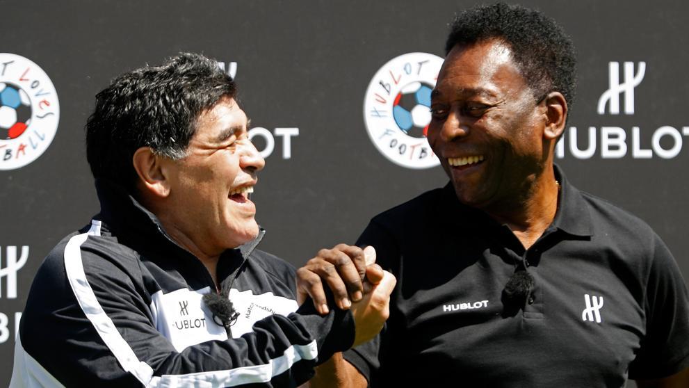 Maradona también habló de Pelé y Bochini